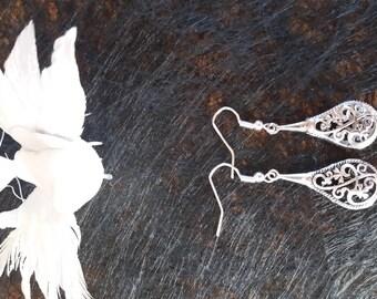 earring charm drop openwork