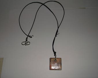 square resin necklace