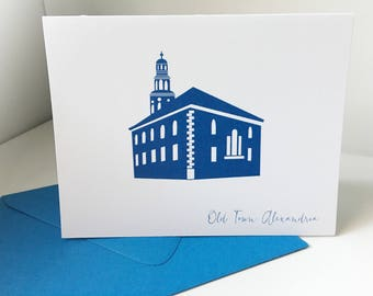 Alexandria Virginia Christ Church Old Town Alexandria Card