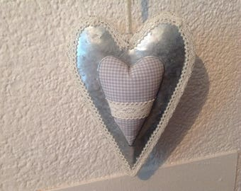 Graceful heart handmade decorative .20 x 15 cm