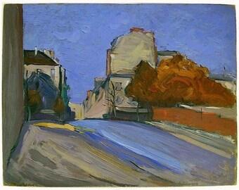 Oil Painting Edmond Henri Zeiger De Baugy Place D Alleray 1938 34.5 cm x 42 cm