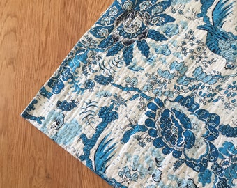 Kantha Throw - The Seasons- Turquoise