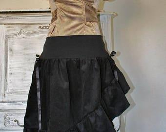 Black corduroy with petticoat skirt