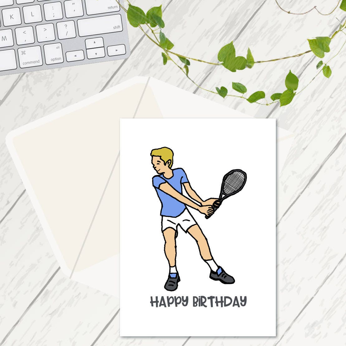 Tennis Player Birthday Cards Tennis Cards Cards For Him Birthday