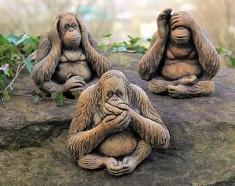 Permanently Coloured 3 Wise Monkeys