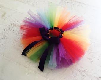 Rainbow First Birthday Tutu - Cake Smash Outfit Girl - Cake Smash Tutu - Unicorn Rainbow First Birthday Outfit - Baby Girl First Birthday