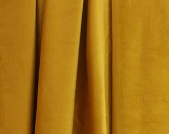Gold Velvet Curtains Velvet Drapes Custom Blackout Drapes Grommet Drapes  Mustard Golden Home Decor Velvet Bedroom