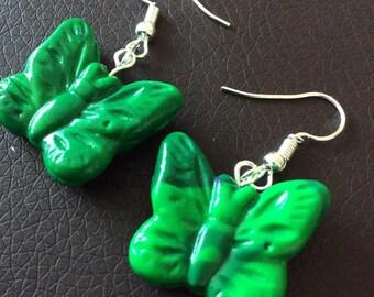 Earrings in the shape of butterflies!