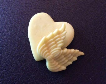 Combination (average) heart and Angel for various jewelry!
