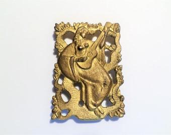 Art deco - Art Deco gilded bronze golden bronze plated plated