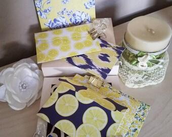 Lemon design handmade envelopes