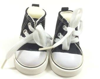 """Black Sneakers for 18 Inch Dolls,7.5CM Fashion Doll Shoes fits 18"""" Dolls like American Girl or Our Generation or Journey Girl Dolls"""