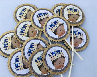 Royal Prince Cupcake Toppers , Little Prince,Royal Prince Baby Shower Decorations, Boys Baby Shower, Prince Baby Shower, Prince Birthday.