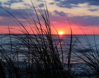 Sunset through the Beach Grass
