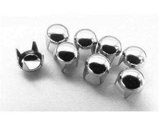 50 rivets claw / customisationargentes round 5 mm studs
