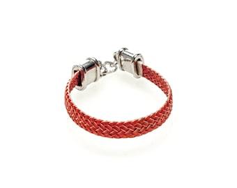 Braided Raw leather bracelet