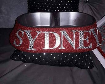 Personalised glitter pet bowl