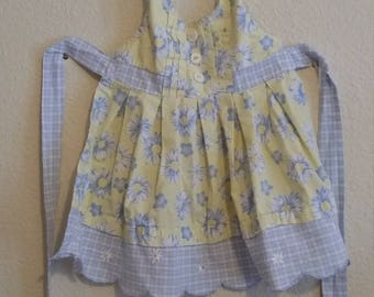 Floral little girl's apron