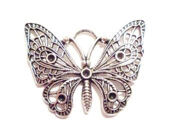 x 1 large 48 mm x 36 mm openwork Butterfly charm pendant
