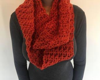 Hand crochet cowl 100% wool