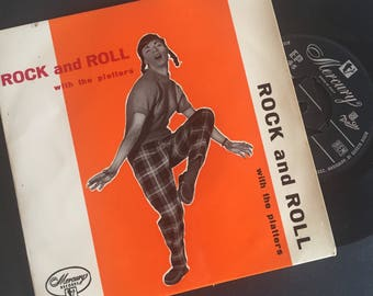 """Rock and Roll with The Platters and Chuck Miller Vol 1, 7"""", 45t, EP Vinyle"""