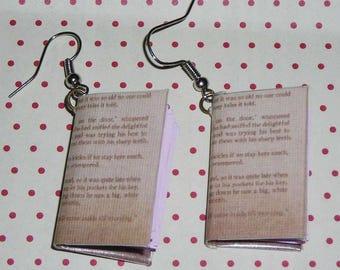 Pair of earrings books (book earrings)