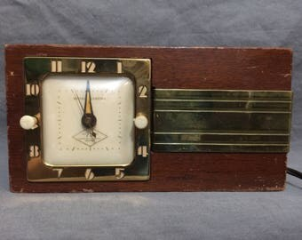 Circa 1950's GE Art Deco Double Sided Clock