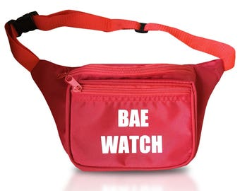Red Fanny Pack Bae Watch