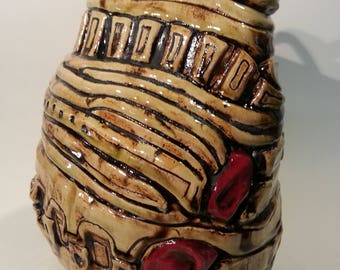 Decorative Vessel with Lid - 2017