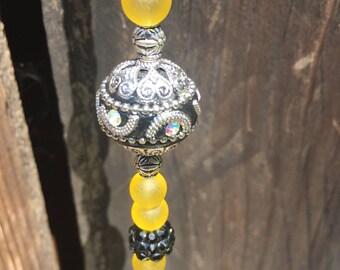 Handmade glass beaded sun catcher