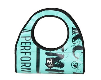 Vegan Handbag for Women from Billboard. Waterproof Shopping bag  from recycled advertising vinyl