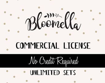Commercial License - Bloomella Clipart - Unlimited Products Only