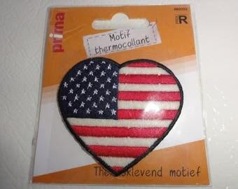Patch Applique Thermocollante trendy edge black American flag! To enter!