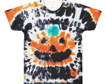 Halloween Jack O'lantern All Over Print - Men's crewneck t-shirt