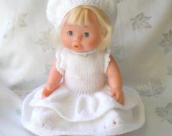 Doll dress and beret wool garment