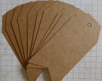 20 American tags in kraft paper