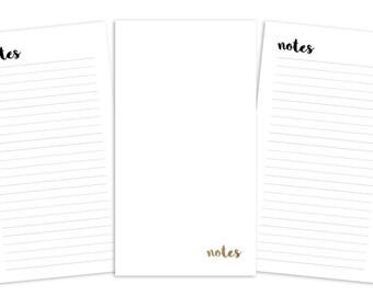 Personal Notes Pages Printable Insert - TN - Plain Cover