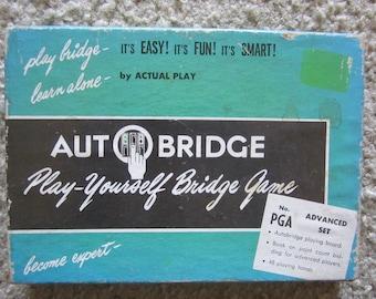Vintage Auto Bridge Game Advanced Set 1957