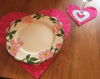 Valentines Day Coasters - Set of 4