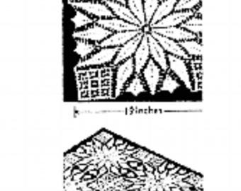 PDF Crochet Pattern to make a Christmas Square for a Quilt, Bedspread, Tablecloth
