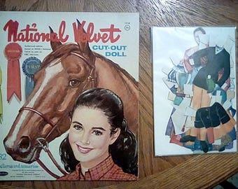 Vintage Elizabeth Taylor Paper Cut Out Dolls 1961