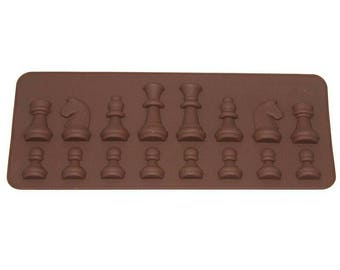 Cake Decoracion Tools 15 Cavity International Chess Shaped Chocolate Mold Ice Sugar Cake Soap Mould Silicone Cube Tray K0143