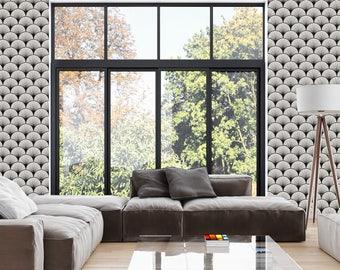 hoffmann gris papier peint adh sif repositionnable. Black Bedroom Furniture Sets. Home Design Ideas