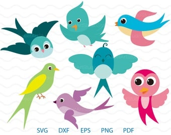 Swallow Clipart , Cute Bird Svg ,  cricut, cameo, silhouette cut files commercial & personal use