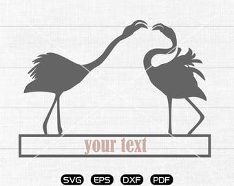 Flamingo SVG File, Flamingo Clipart, cricut, cameo, silhouette cut files commercial & personal use