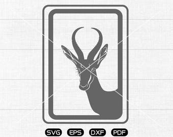 Antelope SVG File, Oryx svg, Antelope Clipart, cricut, cameo, silhouette cut files commercial & personal use