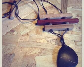 Collier bois et noix de coco