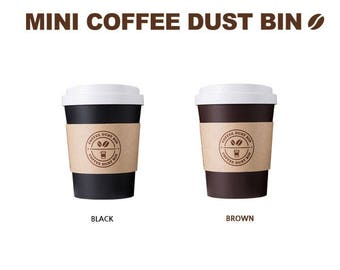 Mini Coffee Dust Bin Trash Can Essential Home Deco - NEW