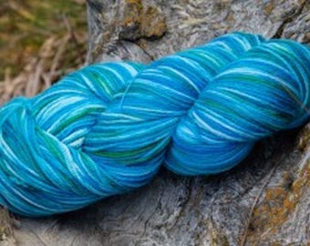 Kachemak Bay - Part of the Alaskan Color way, handpainted yarns inspired by the magic of Alaska