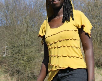 """""""E-f"""" tank top (with short sleeves Elvish) - yellow - L"""